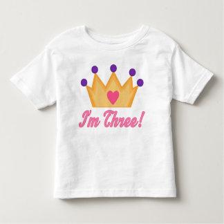 3ro cumpleaños de los chicas t-shirts