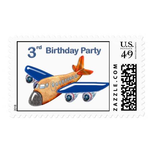 3ro cumpleaños del aeroplano asombroso franqueo