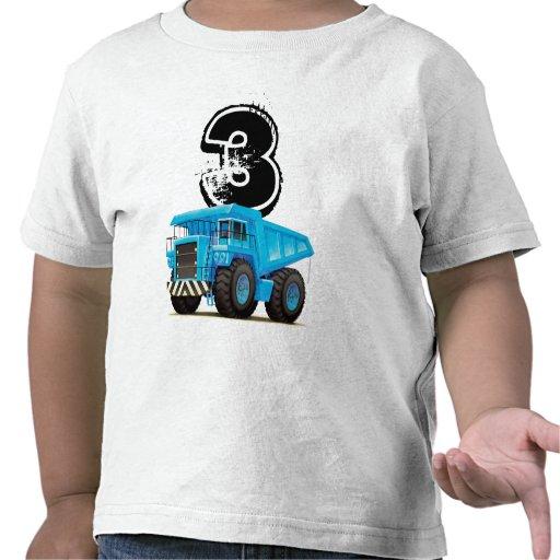 3ro cumpleaños del camión azul camisetas