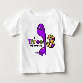3ro cumpleaños del dinosaurio púrpura remera