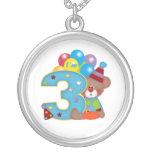 3ro Cumpleaños del oso del payaso del cumpleaños Pendientes