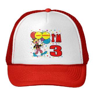 3ro Cumpleaños del payaso del cumpleaños Gorras De Camionero