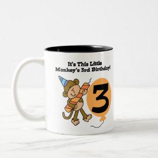 3ro cumpleaños del pequeño mono taza de café