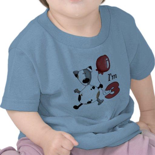 3ro Cumpleaños del perrito del cumpleaños Camisetas