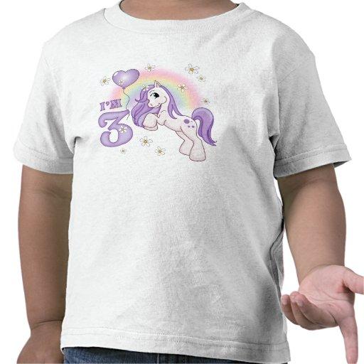 3ro cumpleaños del potro bonito camiseta