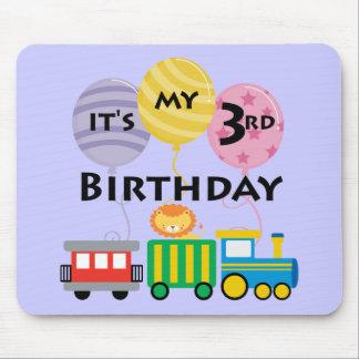 3ro Cumpleaños del tren del cumpleaños Alfombrillas De Ratón