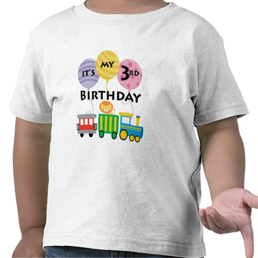 3ro Cumpleaños del tren del cumpleaños Camiseta