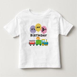 3ro Cumpleaños del tren del cumpleaños Playera De Bebé
