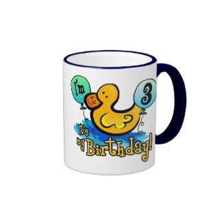 3ro cumpleaños Ducky Tazas