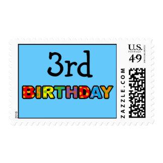 3ro cumpleaños estampilla