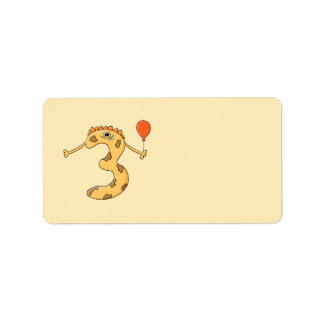 3ro Cumpleaños. Historieta amarilla del monstruo d Etiquetas De Dirección