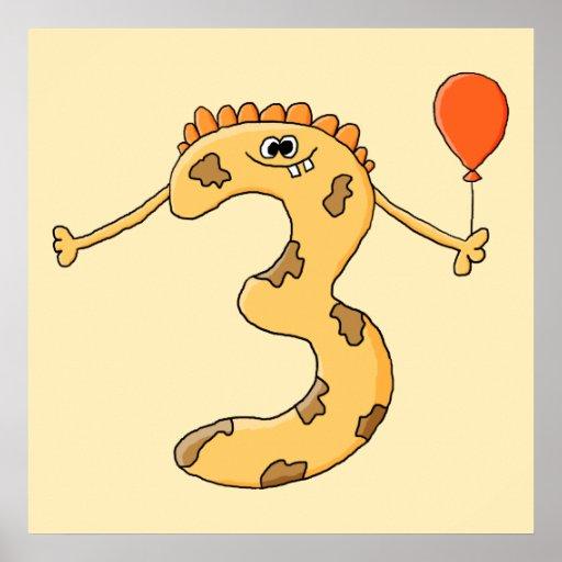 3ro Cumpleaños. Historieta amarilla del monstruo d Impresiones