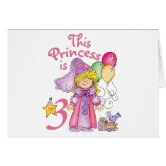 3ro cumpleaños invitaciones de la princesa tarjeta
