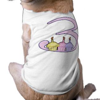 3ro Cumpleaños Camisa De Mascota