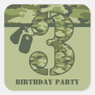 3ro cumpleaños verde de Camo