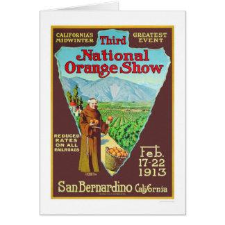 3ro Demostración anaranjada nacional 1913 Tarjeta De Felicitación