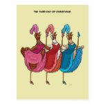 3ro Día de postal del navidad (tres gallinas franc