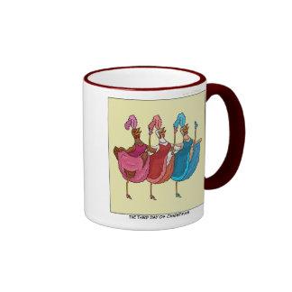 3ro Día de taza del navidad (tres gallinas frances