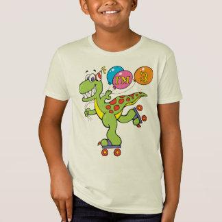 3ro Dinosaurio del cumpleaños Playera
