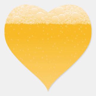 3ro diseño de la cerveza calcomania de corazon