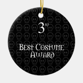 3ro El lugar B&W Morph el mejor premio del traje Adorno Navideño Redondo De Cerámica