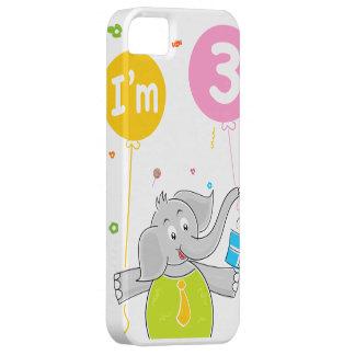 3ro Elefante del cumpleaños con los globos iPhone 5 Coberturas