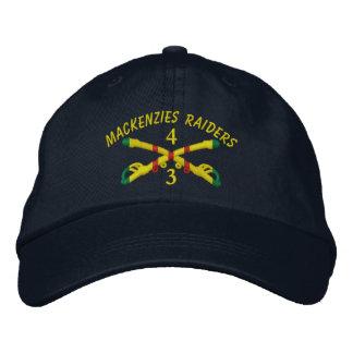 3ro Escuadrillas., gorra bordado 4ta caballería Gorros Bordados