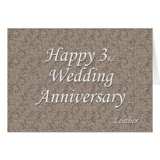 3ro feliz Aniversario de boda Felicitaciones