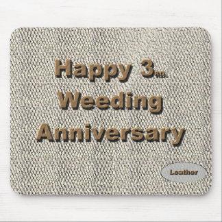 3ro feliz Aniversario de boda Tapete De Raton