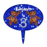 3ro fiesta de cumpleaños de baile de los osos figura de tarta