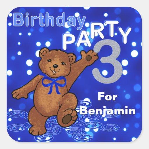 3ro fiesta de cumpleaños de baile de los osos colcomanias cuadradases