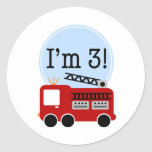 3ro Firetruck del cumpleaños Etiqueta