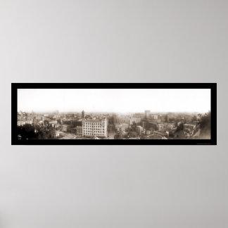 3ro foto magnífica 1904 de Los Ángeles Póster