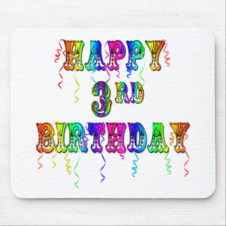 3ro fuente feliz del circo del cumpleaños - person mouse pads