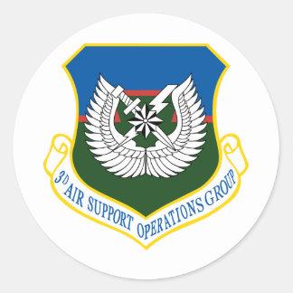 3ro Grupo de operaciones del apoyo aéreo de ASOG Pegatina Redonda