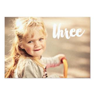 3ro Invitación de la capa de la foto del número