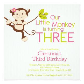 3ro invitaciones de la fiesta de cumpleaños del comunicados