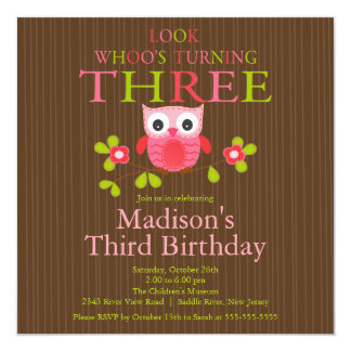 3ro invitaciones de la fiesta de cumpleaños del invitaciones personales