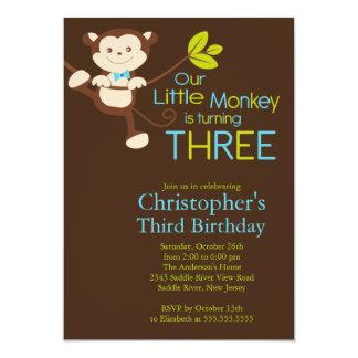 3ro invitaciones de la fiesta de cumpleaños del invitaciones personalizada