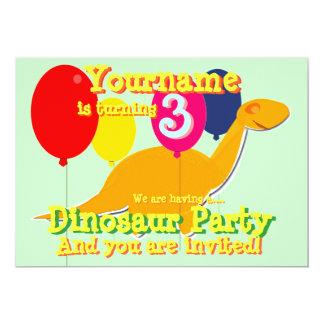 3ro invitaciones de la fiesta de cumpleaños del invitación 12,7 x 17,8 cm