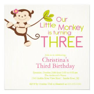 3ro invitaciones de la fiesta de cumpleaños del mo comunicados
