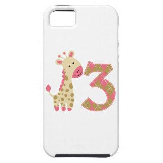 3ro Jirafa rosada del cumpleaños iPhone 5 Cobertura