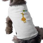 3ro Jirafa y globos del cumpleaños Camiseta De Perrito