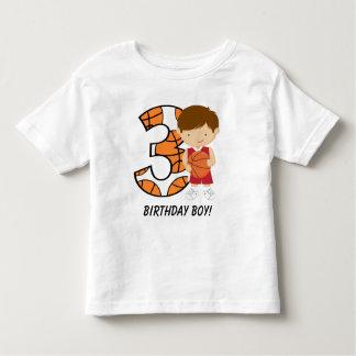 3ro Jugador de básquet rojo y blanco del Camiseta