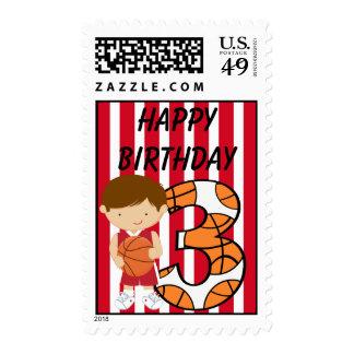 3ro Jugador de básquet rojo y blanco del Envio
