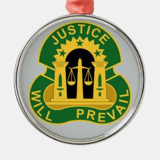 3ro La policía militar agrupa - la justicia Adorno Redondo Plateado