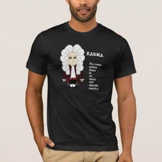 3ro ley de las karmas y de Newton (camiseta del Playera