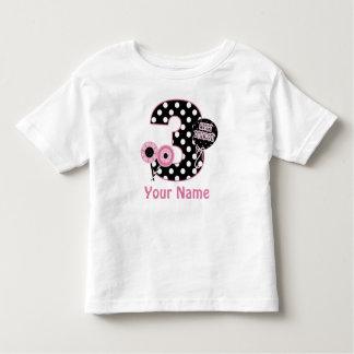 3ro Los puntos negros rosados del cumpleaños T-shirts