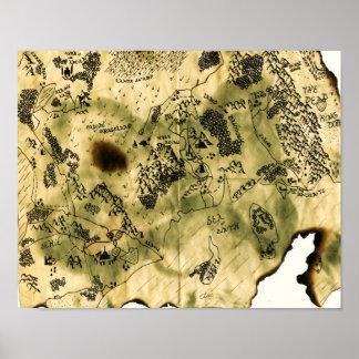 3ro Mapa del reino olvidado Poster