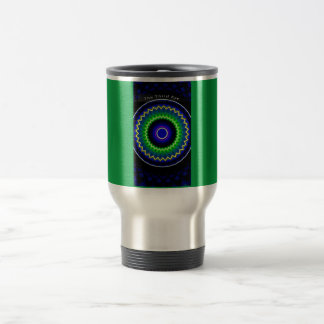 3ro modelo de la circular del ojo del azul taza de viaje
